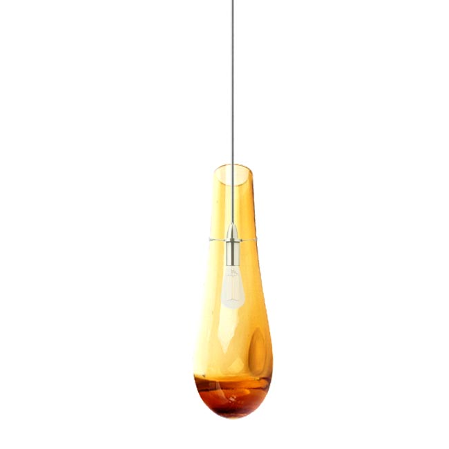 modern blown glass water drop amber pendant lighting 11825 amber pendant lighting