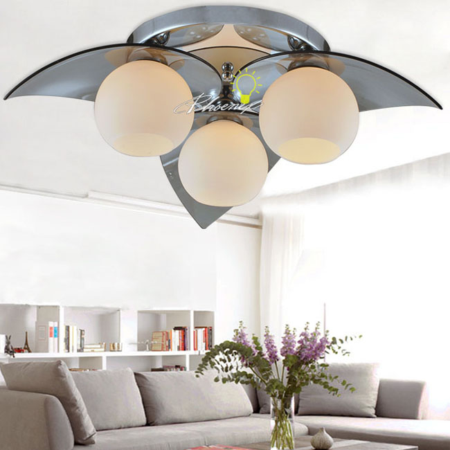 Modern Glass Ball and Big shade Recessed Lighting 7399