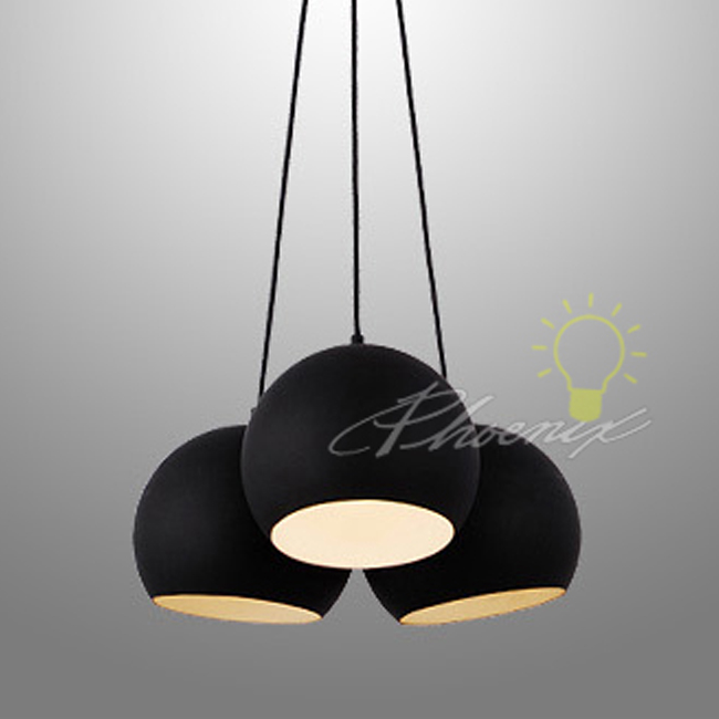 Modern black ball metal pendant lighting 7415 browse for Modern hanging pendant lights