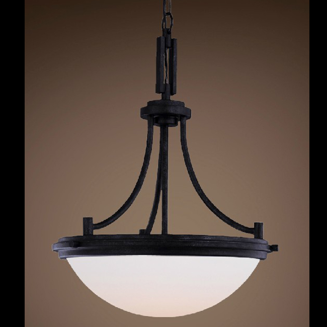 Antique country metal and marble pendant lighting 7507 for Country lighting fixtures for home