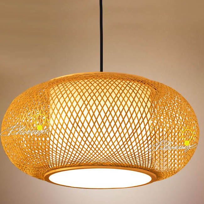 Modern Hand Waved Bamboo Pendant Lighting 7542