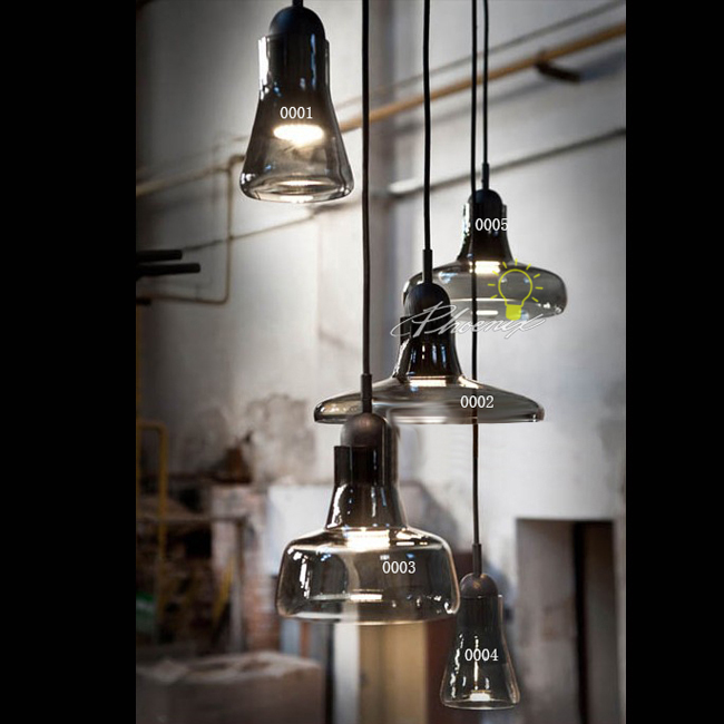 Modern Geremy Smoke Glass Pendant Lighting 9742
