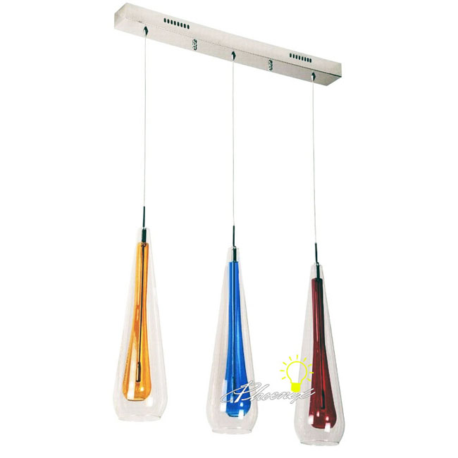 Modern Handcraft 2 Layers Glass Shapes Pendant Lighting