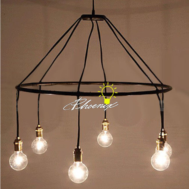 antique 6 edison bulbs pendant lighting in matte finish 7904 browse. Black Bedroom Furniture Sets. Home Design Ideas