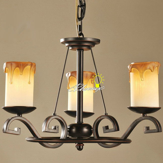 Antique Candle and Iron Art Chandelier 7942