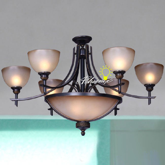 9 lighting Marble Chandelier in Painted Finish 7977