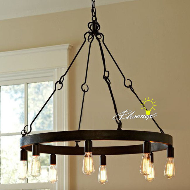 antique edison bulbs iron chandelier in rusted finish 7980 browse. Black Bedroom Furniture Sets. Home Design Ideas