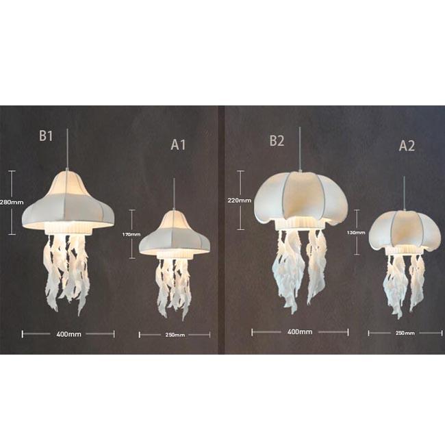 Modern silk jellyfish pendant lighting 8204 browse for Jellyfish light fixture