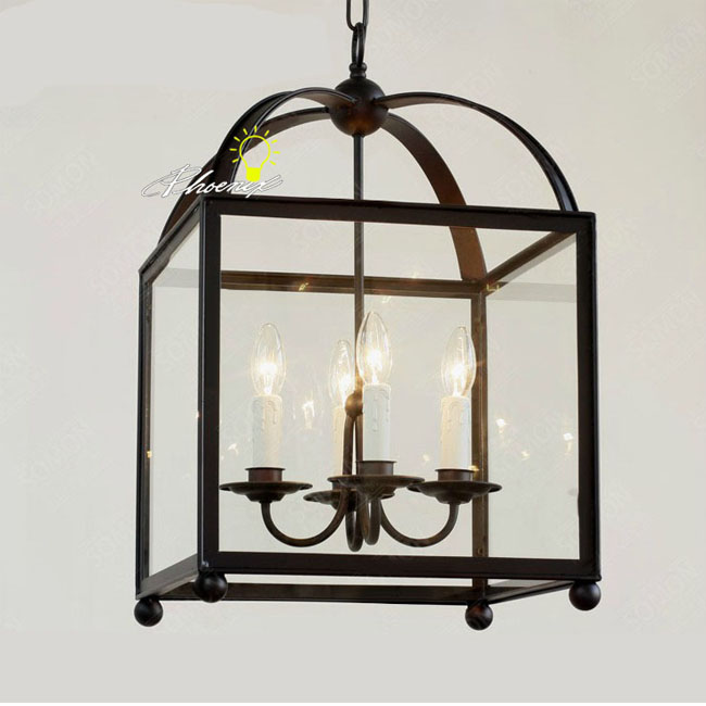 country pendant lighting. country square iron and clear glass shape pendant lighting 8278