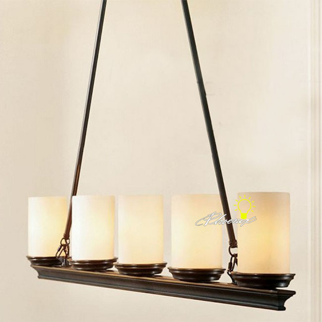 Antique 5 Marble Candle Shades Pendant Lighting 8448