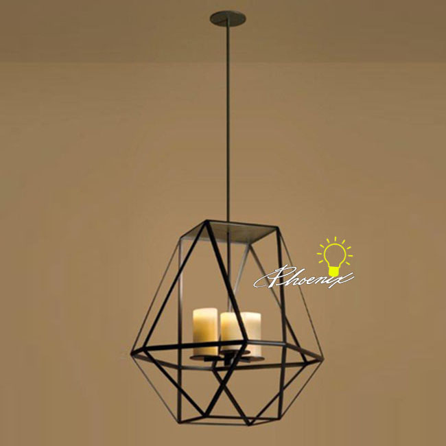 Antique Iron Art and Marble Candles Pendant Lighting 8512