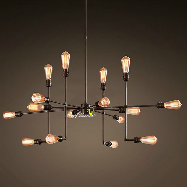 antique 9 16 edison bulbs chandelier 8693 browse project lighting. Black Bedroom Furniture Sets. Home Design Ideas