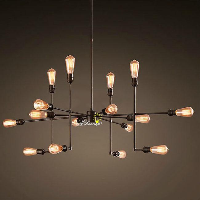 antique 916 edison bulbs chandelier - Edison Chandelier