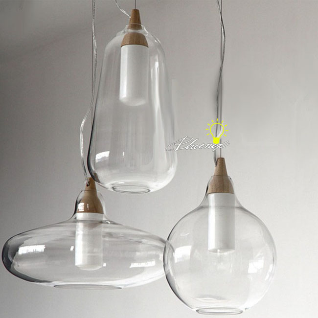 modern nu clear glass pendant lighting