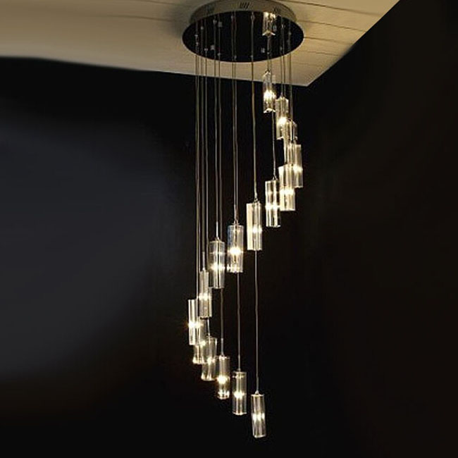 Modern Crystal Stair Chandelier 7372