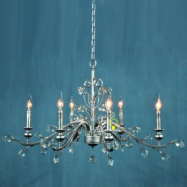 Antique ASFOUR Crystal 6 lights Chandelier 7500