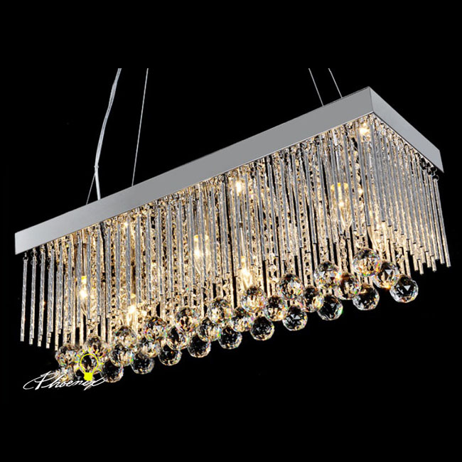 Modern Rectangle Crystal Chandelier 7987 ...