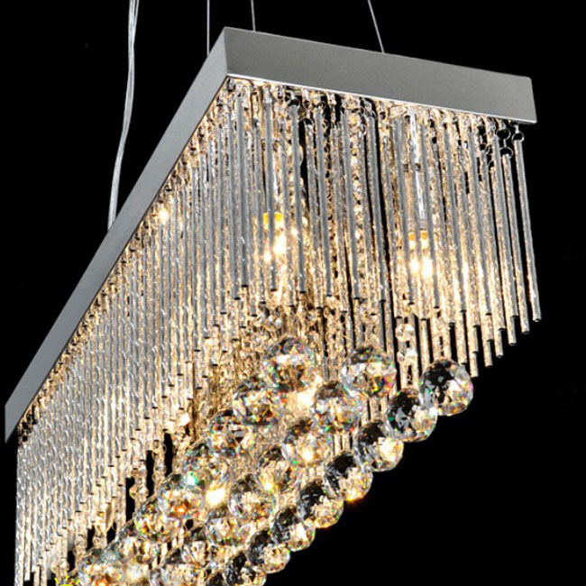 rectangular crystal chandelier dining room canada modern rectangle lighting