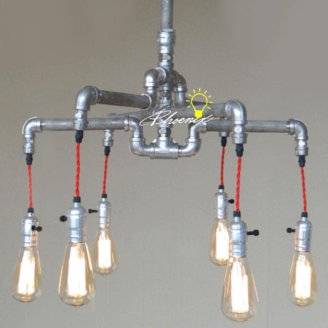 Handmade Pipe And Edison Bulbs Chandelier 8823 Browse