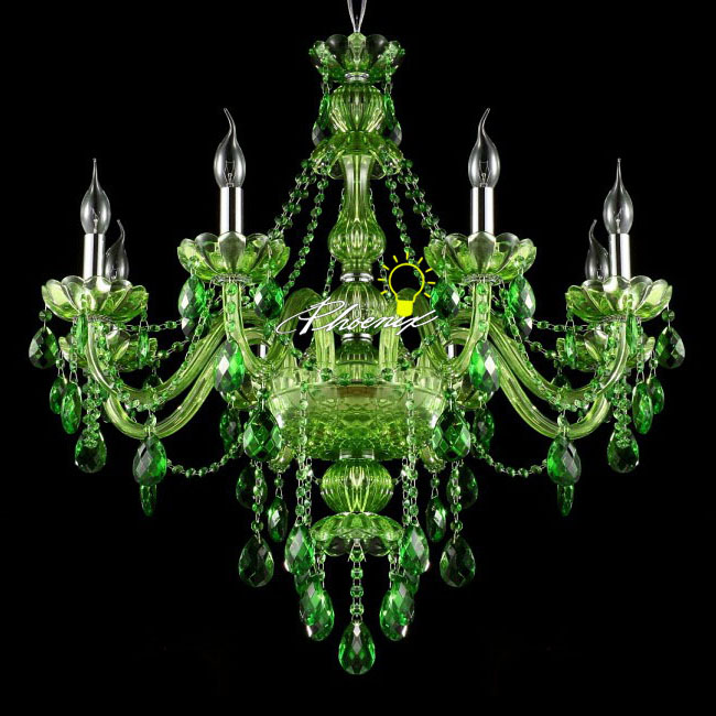 Modern Jade Green Crystal Chandelier 8943 : Browse Project ...