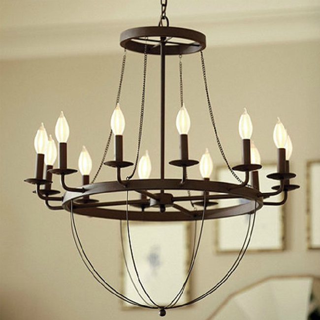 CHANDELIER - LOFT Country Metal Candles Chandelier 9118 : Browse Project