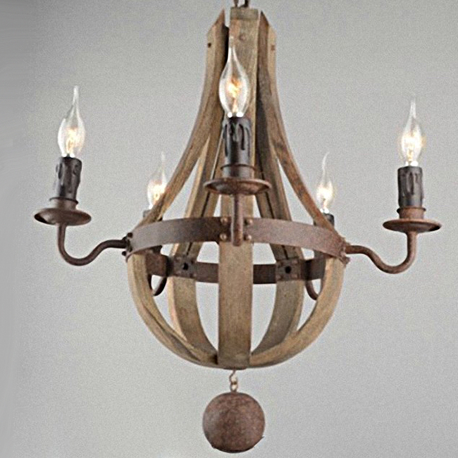 Antique Wood And Iron Art Chandelier 10171 Browse
