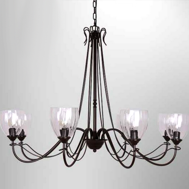 northic country 6 clear glass shades iron chandelier 10344 browse project lighting and modern. Black Bedroom Furniture Sets. Home Design Ideas