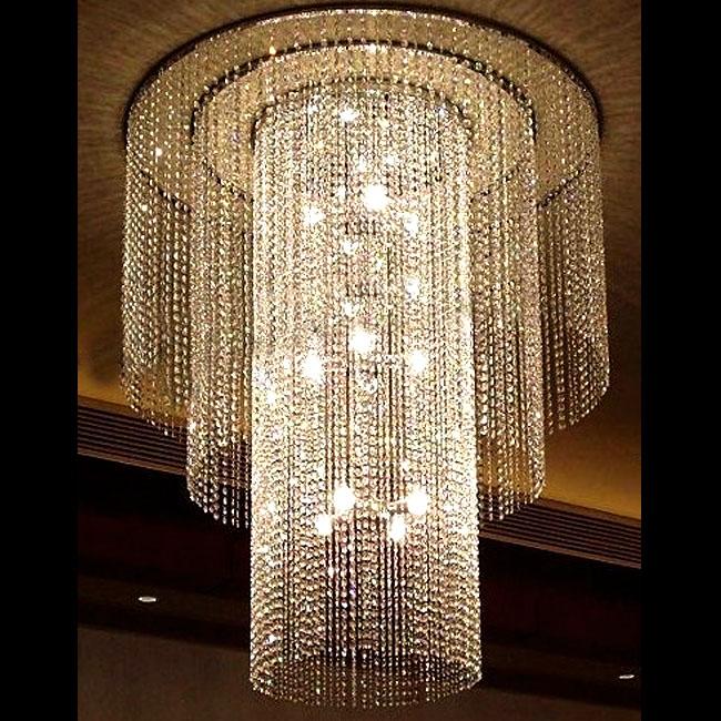 Large Crystal Chandelier Lighting: Modern Large Size Object Crystal Chandelier 10565,Lighting