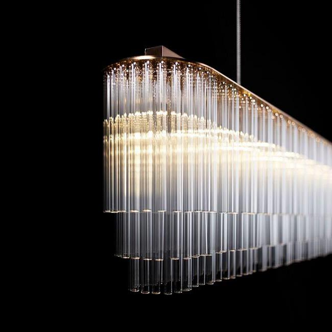Modern Glass Tubes Chandelier 12385 : Browse Project