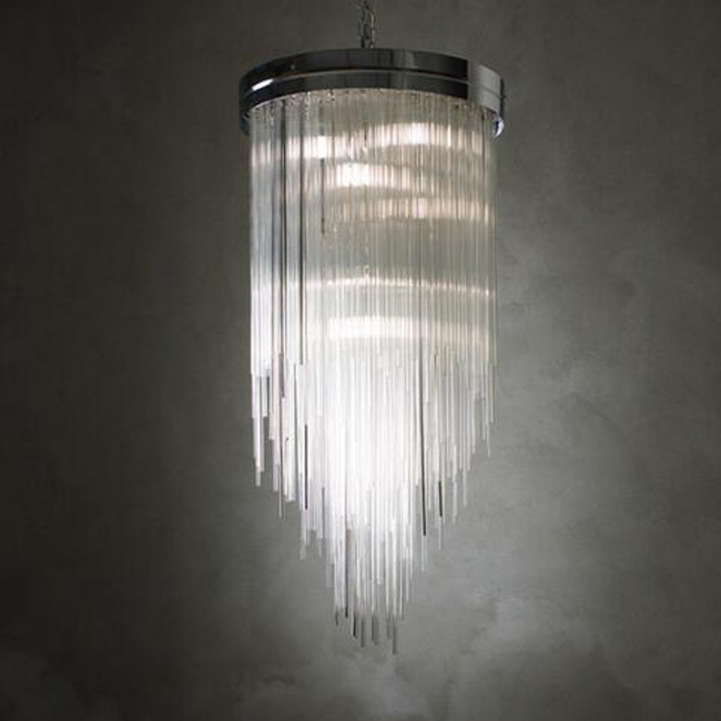 1960's Transparent Glass Chandelier 14879