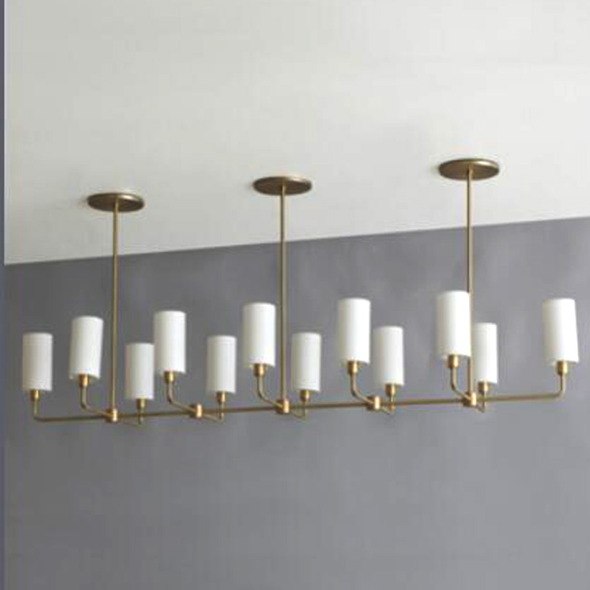 Bespoke Brass and 12 Glass Shades Chandelier 15189