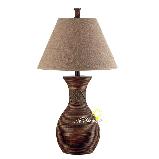 Anqtique Indian Resin and Fabric Table Lamp 8612