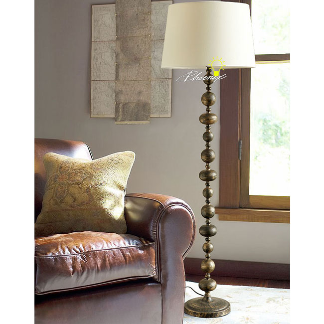 Antique Copper Floor Lamp in Painted Finish 8793