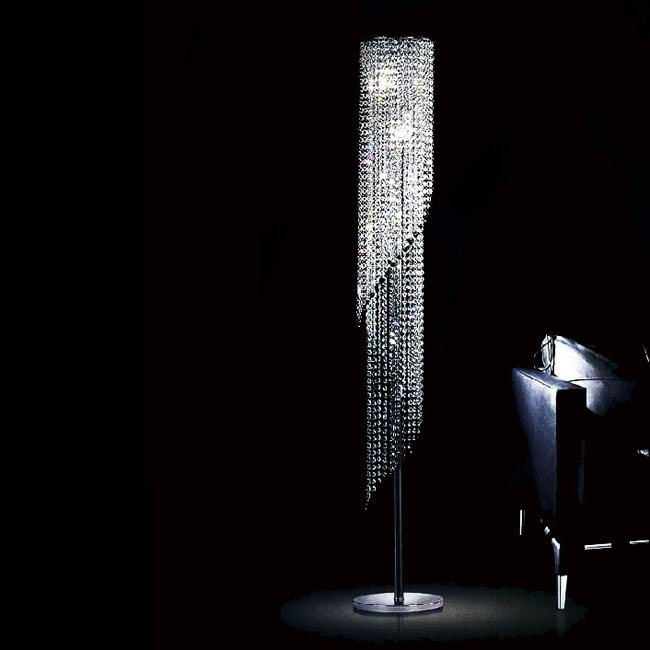 Modern K9 Spring Crystal Floor Lamp 9688 - Modern K9 Spring Crystal Floor Lamp 9688 : Browse Project Lighting