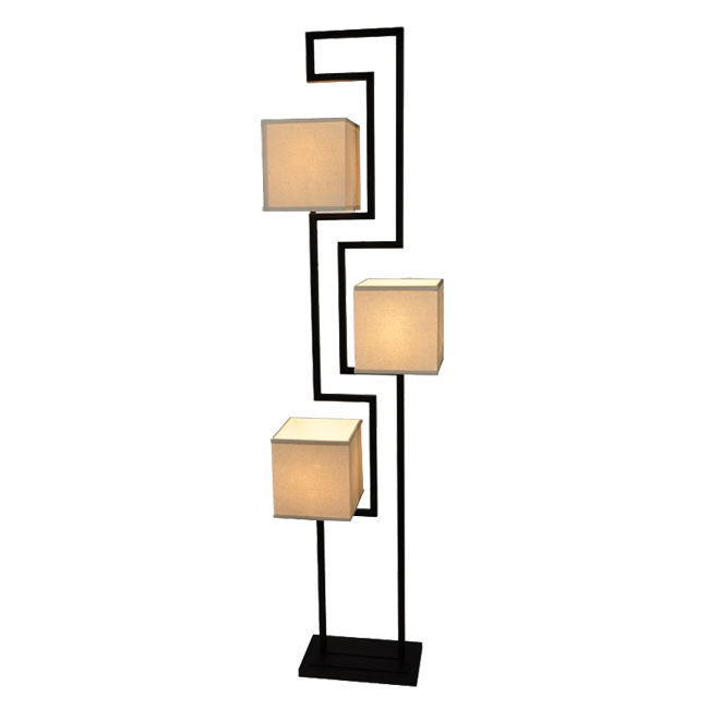 Modern flax fabric floor lamp 9709 browse project for Modern floor lamp philippines