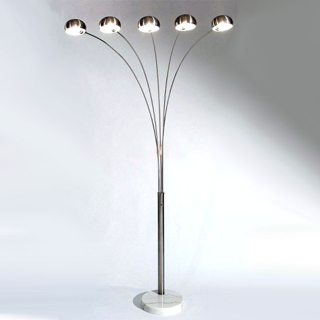 ARCO 5 lights Floor Floor Lamp in Chrome Finish 10058