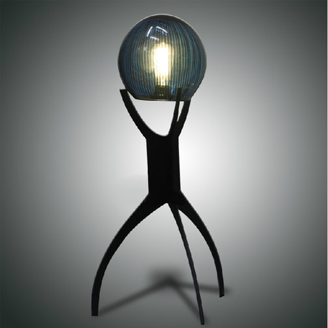 Handmade Modern Crystal Ball on Triangle Frame Floor Lamp 10795