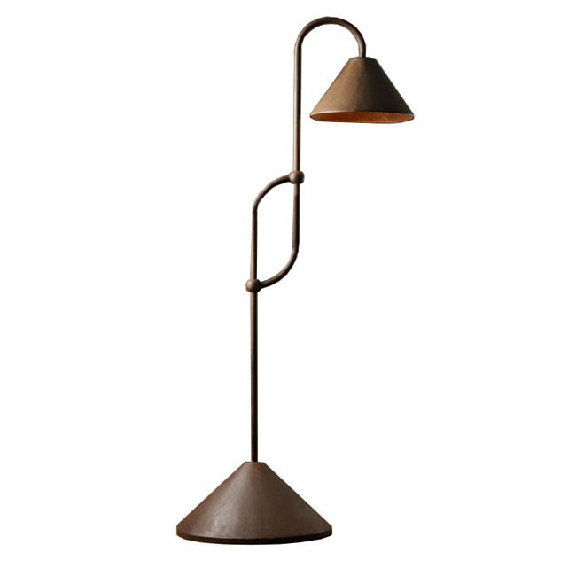 Country Iron Art Floor Lamp in Rusted Finish 10861