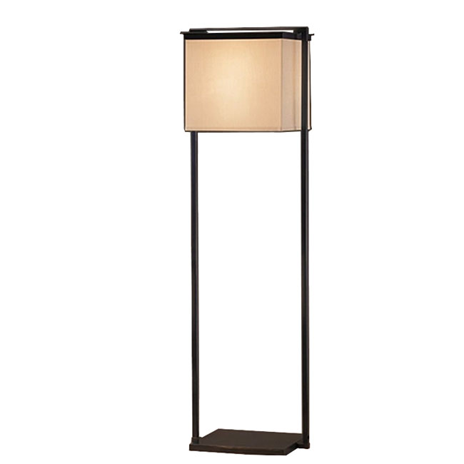 Country PHX Iron and Flax Shade Floor Lamp 10866
