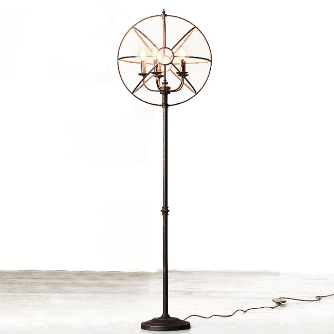 LOFT Antique Iron Art Floor Lamp 8798