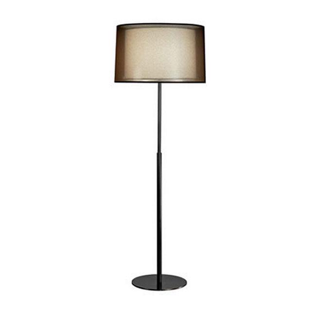 Post Modern Black Gauze And Flax Shade Floor Lamp 11211