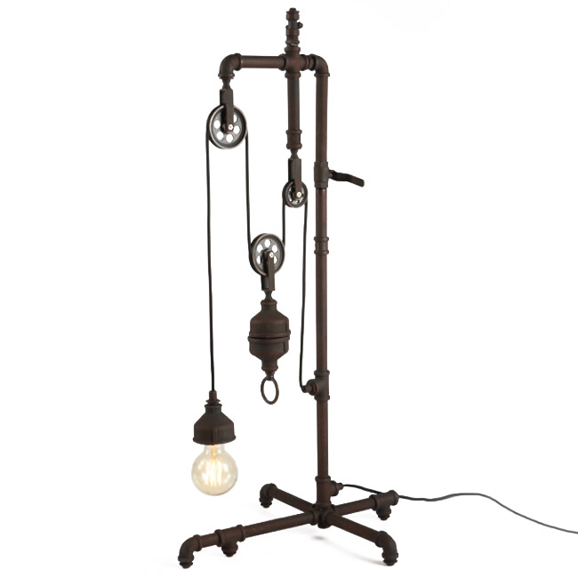 Antique Adjustable Industrial Water Pipe Floor Lamp 12060