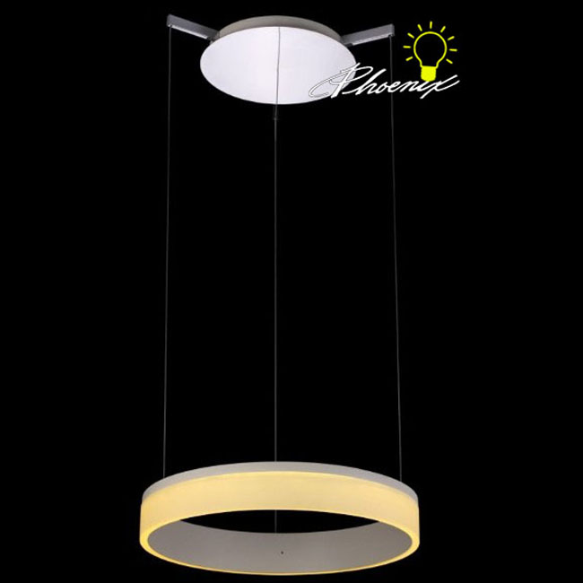 Modern Ring LED Pendant Lighting in Chrome finish 8369