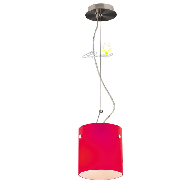 Modern Red Pendant Lighting : Modern red cylindrical pendant lighting browse