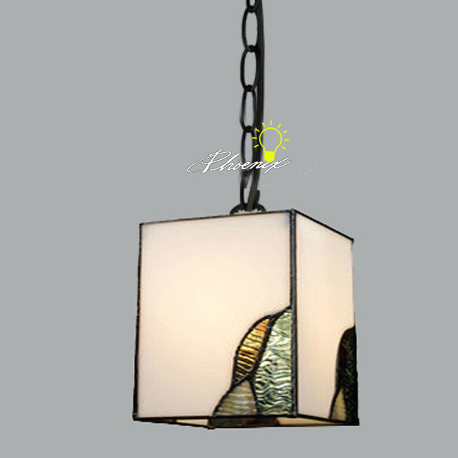 Antique Square Glass Pendant Lighting 9017 Browse