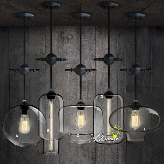 loft antique industrial and clear glass pendant lighting 9051 aliexpresscom buy vintage industrial lighting modern