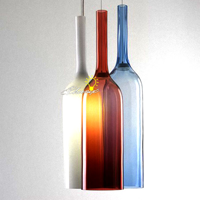 Modern Jar RGB Bottles Pendant Lighting 9052 Browse