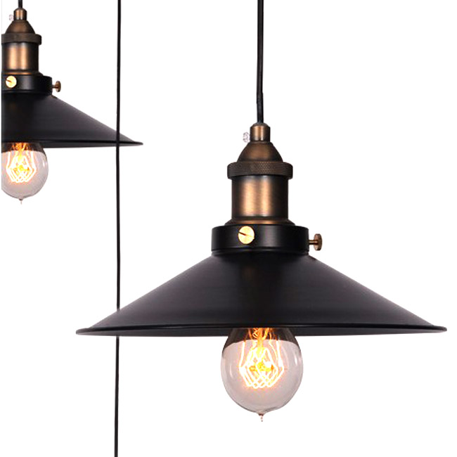 LOFT Heavy Metal and Copper Cap Pendant Lighting 9122