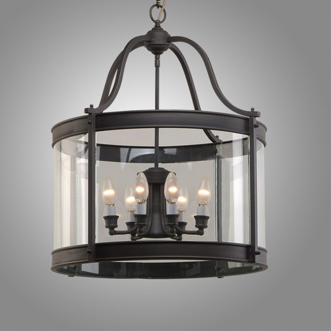 Antique Black Copper And Crysal Glass Pendant Lighting 9298