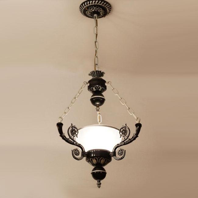Modern Mediterranean Glass And Metal Pendant Lighting 9370